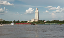 BATON ROGUE, LUIZJANA - 2010: Luizjana stanu Capitol budynek Obrazy Royalty Free