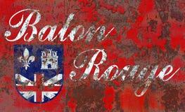 Baton Rogue miasta dymu flaga, Luizjana stan, Stany Zjednoczone A obrazy stock
