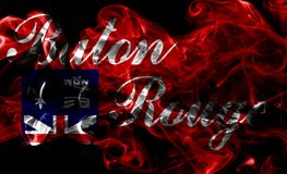 Baton Rogue miasta dymu flaga, Luizjana stan, Stany Zjednoczone A Zdjęcie Royalty Free