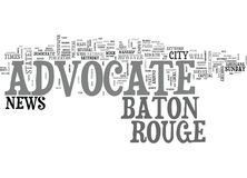 Baton Rouge Advocate Word Cloud Stock Photos