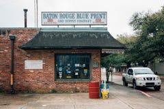 Baton Rouge Blue Print and Supply Company, in Baton Rouge, Louisiana.  royalty free stock photo