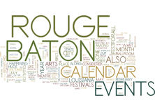 Baton Rouge Campgrounds Word Cloud Concept Stock Photo