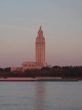 BATON ROUGE LOUISIANA - 2014: Byggnad för Louisiana statKapitolium Royaltyfria Foton