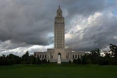 BATON ROUGE LOUISIANA - 2014: Byggnad för Louisiana statKapitolium Arkivfoton