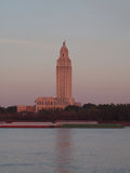 BATON ROUGE, LOUISIANA - 2014: Louisiana State Capitol building. Louisiana State Capitol building as seen fromnacross the Mississippi river.n royalty free stock photos