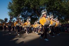 BATON ROUGE, LOUISIANA - 2014: Louisiana State University student band just before an LSU football game Stock Images