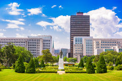 Baton Rouge, Louisiana. USA cityscape from the State Capitol grounds stock photo