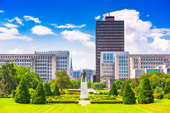 Baton Rouge, Louisiana, USA. Skyline from Louisiana State Capitol royalty free stock photography