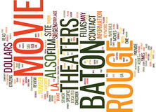 Baton Rouge News Word Cloud Concept Royalty Free Stock Photography