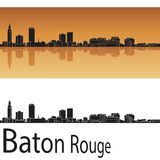 Baton Rouge skyline in orange background Stock Photos