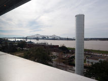 BATON ROUGE, U.S.A. - 2015: Un ponte che unisce Baton Rouge e porto Allen Fotografia Stock Libera da Diritti