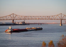 BATON ROUGE, USA - 2015: A Bridge Joining Baton Rouge And Port Allen. Royalty Free Stock Photography