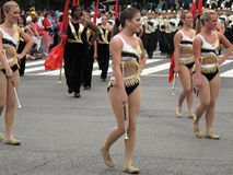 Baton Twirlers at the Parade Stock Image