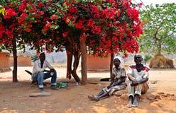 Batonka长辈,北部的Gokwe,津巴布韦 库存图片