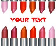 Batons com texto Imagens de Stock Royalty Free