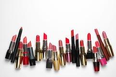 Batons cosméticos coloridos ajustados Imagem de Stock