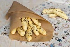 Batons de pain avec le cumin Images stock