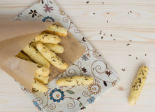 Batons de pain salés avec le cumin Photo stock