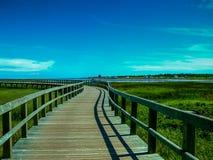 Batouche, прогулка доски ` s мира самая длинная на Атлантическом океане стоковое изображение