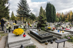 Batowice Cemetery, Krakow, Poland. Stock Images