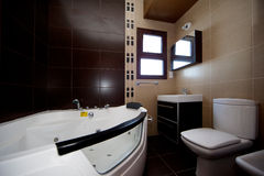 Batroom interior with jaquzi Royalty Free Stock Images