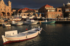 Batroun捕鱼港口,黎巴嫩 免版税库存图片