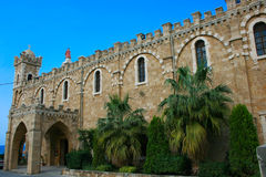 batroun καθεδρικός ναός Λίβανο& Στοκ Εικόνες