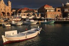 Batroun fiskeport, Libanon Royaltyfri Bild