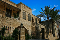 Batroun house,traditional architecture, Lebanon. Many old houses and sandy-vault buildings were rehabilitated into old style restaurants and unique styles of Stock Photography