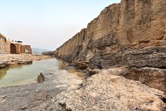 Batroun Phoenecian Denna ściana, Liban Obrazy Royalty Free