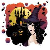 bats ведьма Стоковая Фотография