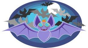 bats полет иллюстрация вектора