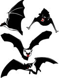 Bats. Vector illustration of a bats. Red, black and white Stock Photo