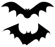 Bats. Illustration of silhouetted flying bats Royalty Free Stock Photography