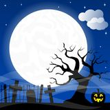Bats against the full moon Royalty Free Stock Photos