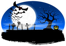 Bats against the full moon Stock Photography