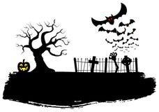 Bats against the full moon Royalty Free Stock Photos