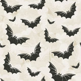 Bats background. Halloween seamless pattern with bats Royalty Free Stock Image
