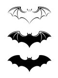 Bats black silhouettes. Stock Photography