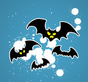Bats on blue background royalty free stock images