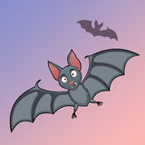 Bats cartoon in fly Stock Image