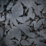 Bats in the dark cloudy sky, perfect halloween background Royalty Free Stock Image