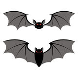 Bats different types on a white background Stock Image