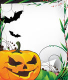 Bats and evil Jack O Lantern Royalty Free Stock Photos