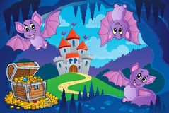Bats in fairy tale cave Stock Photography