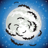 Bats flying in the night sky Stock Photography