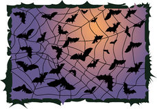 Bats and a full Halloween Moon Royalty Free Stock Images