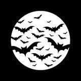 Bats in full moon Royalty Free Stock Image