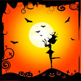 Bats Girl Represents Trick Or Treat And Autumn Royalty Free Stock Images
