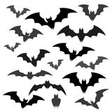 Bats and Halloween Icon Sets. Collection of Bats and Halloween Icon Sets Stock Image